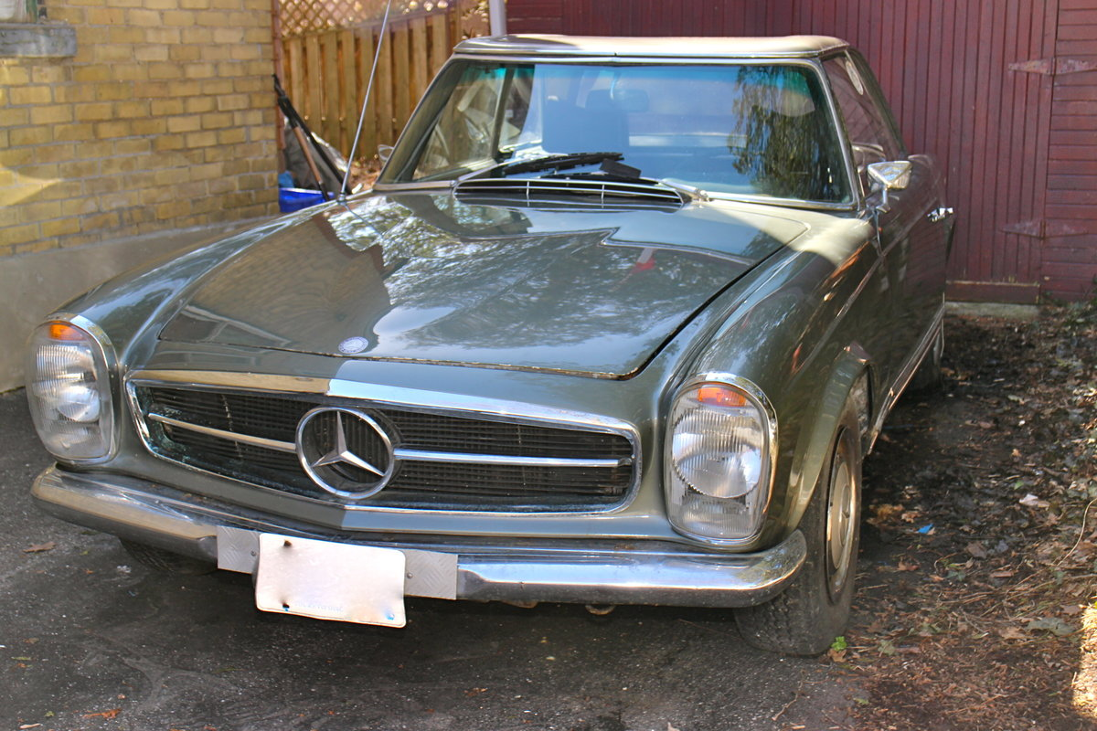 1969 mercedes benz 280sl project bramhall classic autos for Mercedes benz inspection cost